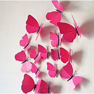 The Three-Dimensional Simulation Butterfly Wall Stickers (12PCS)