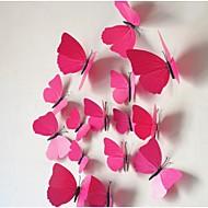 os adesivos de parede borboleta simulação tridimensional (12pcs)