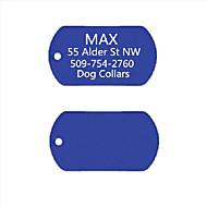 personlig gave anodiseret aluminium hund id navneskilt til kæledyr (assorterede farver)