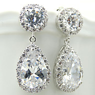 Gorgeous Alloy With Czech Rhinestones Kim Kardashian Inspired Wedding Bridal Earrings with Gift Box