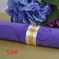 6pcs 25mm cuivre en forme d-or intermédiaire relief rond de serviette