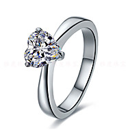2CT 7*7 Heart Cut Sterling Silver Ring Engagement Promise SONA Simulate Diamond Women Propose Ring 18K White Gold Plated