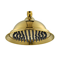 "8"" Gold-Zirconium Alloys Finish Brass Telephone Silica Gel Europe Classic Style Water Saving Rain Shower Head for Bath"