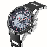 Dual Time Digtal Date Day Alarm Waterproof LCD Chronograph Mens Sport Wrist Quartz Watch Military Army Style Wrist Watch Cool Watch Unique Watch
