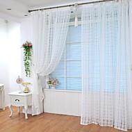 Top grommet 100 * 200 centímetros sólida rede quadrada sala enorme cortina cortina