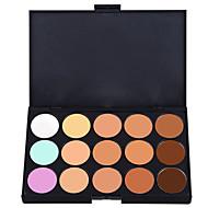 15 Paleta de Sombras Molhado / Mate / Brilho Paleta da sombra Creme Normal Maquiagem Esfumada / Maquiagem de Festa