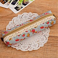 Cute Floral Print Fabric Pen Bag(4-colors)(1Pc)