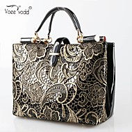 Voeevodd® 2015 Women's Leather Floral Print Totes Casual/Fashion/Popular Shoulder Bag With Belt