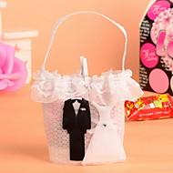 12 Stück / Set zugunsten Halter - kreative Vlies Bevorzugungstaschen Braut und Bräutigam