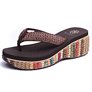 Women's Shoes Flip Flops Wedge Heel Handmade Raffia Sandals Shoes More Colors available