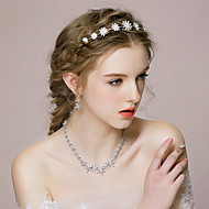 Women's Alloy/Rhinestone/Imitation Pearl Jewelry Set Cubic Zirconia