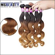 """3 stuks / veel 16 """"-24"""" 7a 3tbrazilian maagdelijke lichaam wave hair extensions 100% onbewerkte maagd menselijk ombre haar weeft"""