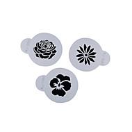 4-Cカップケーキステンシルお菓子とコーヒーの装飾ツールの色の白