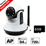 besteye® 8GB tf kort och HD720p h.264 p2p wifi kamera ip 1,0m pixlar PTZ ir mörkerseende trådbunden eller wirless kamera wifi