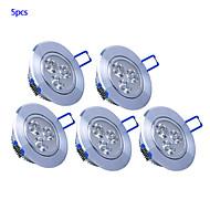 3W Lâmpada de Embutir 270 lm Branco Quente / Branco Frio LED de Alta Potência AC 85-265 V 5 Pças.