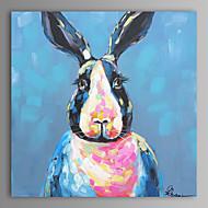 유화 현대 추상 토끼 손을 뻗어 프레임 캔버스에 그린