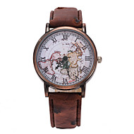 L.WEST Fashion Contracted Belt The Map Quartz Watch Wrist Watch Cool Watch Unique Watch