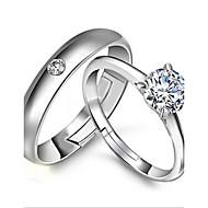 Gyűrűk Állítható Parti Ékszerek Ezüst Női Vallomás gyűrűk 1db,Egy méret Ezüst