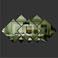 Shapes Wall Stickers Mirror Wall Stickers Decorative Wall Stickers Material Removable Home Decoration Wall Decal