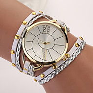 New Hot Women Dress Watches High-Quality Punk Retro Leather Strap Bracelet Laminated Quartz Hot Sale Cool Watches Unique Watches Fashion Watch