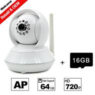 besteye® 16GB TF karet a HD720p H.264 P2P ip wifi kamera 1,0 m pixelů PTZ IR noční vidění kabelové nebo wifi wirless kamera