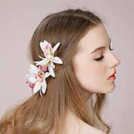 Women's Paper/Fabric Headpiece - Wedding/Outdoor Flowers 1 Piece