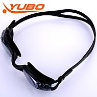 Yobo óculos de natação unisex cinza claro anti-fog / impermeável / tamanho ajustável / anti-uv / anti-derrapante alça pc gel de sílica
