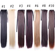 55 cm lang natuurlijke rechte pruik haarstukje synthetisch haar kostuum partij staart zwart licht bruin blonde pruiken haar staart