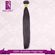 "1pcs / 12 הרבה ""-30"" ברזילאי שיער שיער טבעי בתולה שחורה משיי ישר תוספות שיער אנושיות טווה"