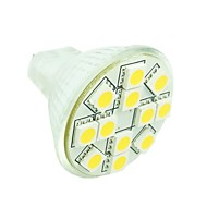 MR11 GZ4 GU4 G4 3W Warm / Cool White / Warm White 12x5050SMD LED 160-180LM Light Led Bulb (DC12V)