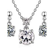 Schmuckset Kristall Krystall Kubikzirkonia Aleación Kreuzform Vier Zinken Halsketten Ohrringe Für Hochzeit Party Alltag Normal 1 Set