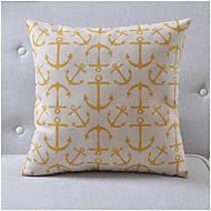 ankare mönster lantlig stil bomull / linne dekorativa kuddöverdrag