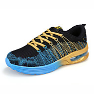 Men's Spring / Summer / Fall / Winter Round Toe Tulle / Fabric Lace-up Blue / Orange Running