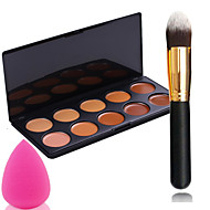 pro puolue 10 väriä ääriviivat kasvovoide meikki peitevoide paletti + jauhe harja + puuterihuisku