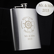 Personalized Stainless Steel Hip Flasks 8-oz Rudder  Flask