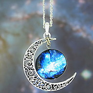 European Galaxy Fashion Timed Stone Pendant Necklace