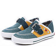 ( Blå/Grønn/Kaki ) - Komfort/Rund tå/Lukket tå - Trendy sneakers/Tresko/tøfler - Lerret - C BOY