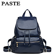 Women Cowhide Casual Backpack White / Blue / Black