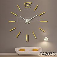 שעון בעיצוב בית עיצוב אופנת 3D שעון קיר גדול DIY