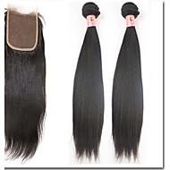 "4Pcs/Lot 8""-30""Bohemian Hair Bundles With Closures 100% Remy Hair"