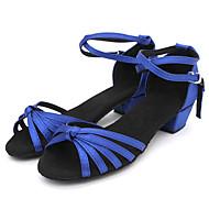 Sapatos de Dança ( Preto/Azul/Multi-Cor/Chocolate ) - Crianças - Não Personalizável - Latim/Salsa/Flamenco/Samba