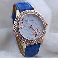Women's circular diamond alloy Dial Quartz Fashion butterfly dress Watch Cool Watches Unique Watches