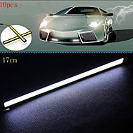10pcs hry® 17 centimetri 600-700lm luce di marcia diurna luce di colore bianco pannocchia drl luce impermeabile (12v)
