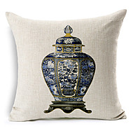 elegante garrafa modelado algodão / linho cover decorativo travesseiro