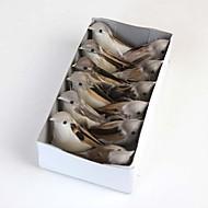 תיבה של ציפורים מלאכותיות כוללת 12pcs