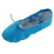 Women's Dance Shoes Belly/Ballet/Yoga/Gymnastics Canvas Flat Heel Blue
