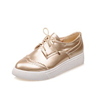 Women's Shoes  Flat Heel Platform/Pointed Toe Oxfords Casual Black/Silver/Gold