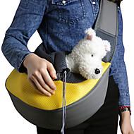 Γάτα Σκύλος Αντικείμενα μεταφοράς & Σακίδια ταξιδίου πλάτης Με Λουράκι Κατοικίδια Καλάθια Μονόχρωμο Φορητό ΑναπνέειΚίτρινο Πράσινο Μπλε