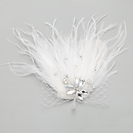 Women's/Flower Girl's Feather/Rhinestone/Alloy Headpiece - Wedding/Special Occasion Flowers 1 Piece