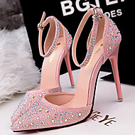 Women's Shoes Silk Stiletto Heel Heels Pumps/Heels Party & Evening/Dress/Casual Black/Pink/Red/Silver/Gray/Gold